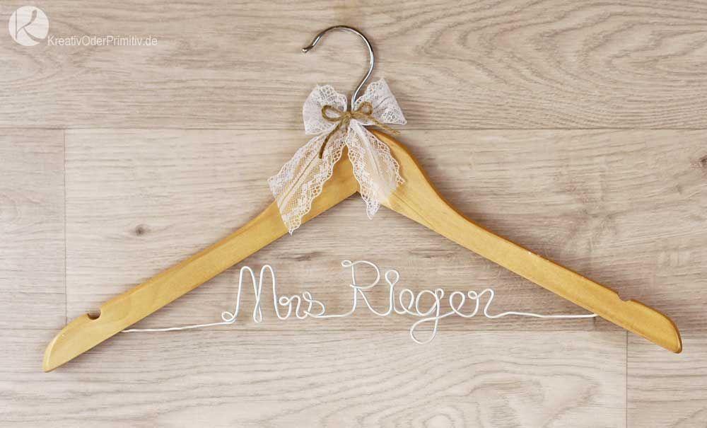 Kleiderbügel, Hochzeit, DIY, selber machen, basteln, günstig ...