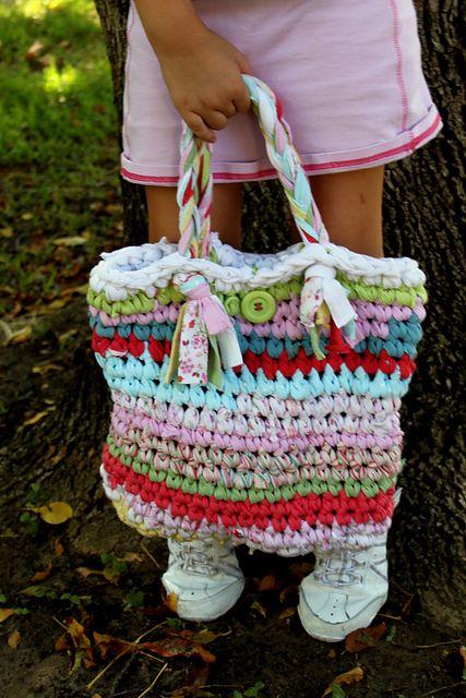 Ravelry T Shirt Bag Free Pattern Crochet Bags Pinterest