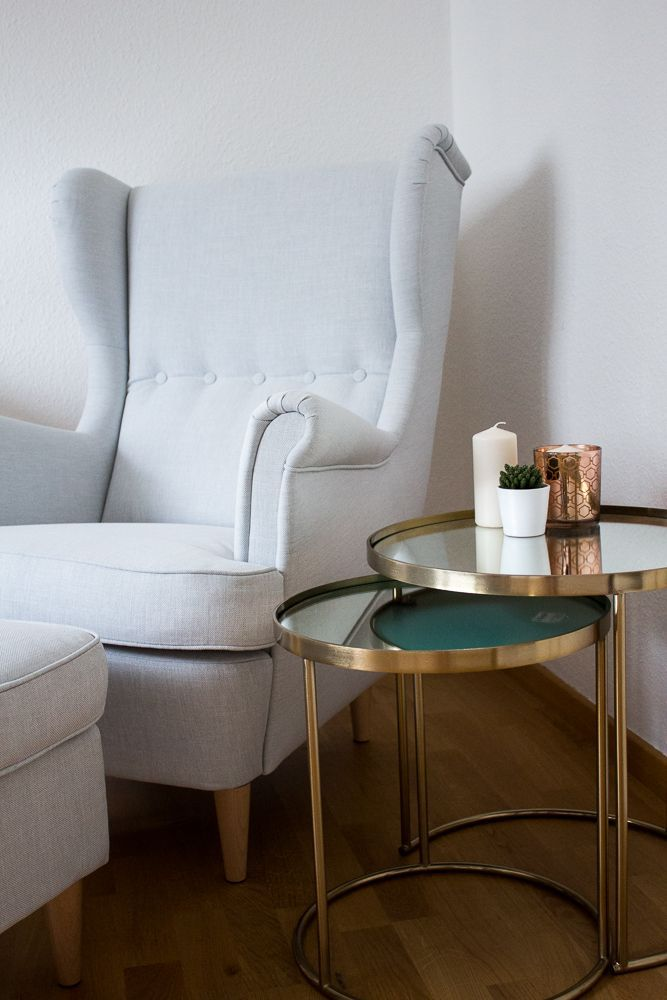 blogger arbeitsplatz modeblogger interior sessel ikea strandmon kupfer tisch zara home 1. Black Bedroom Furniture Sets. Home Design Ideas