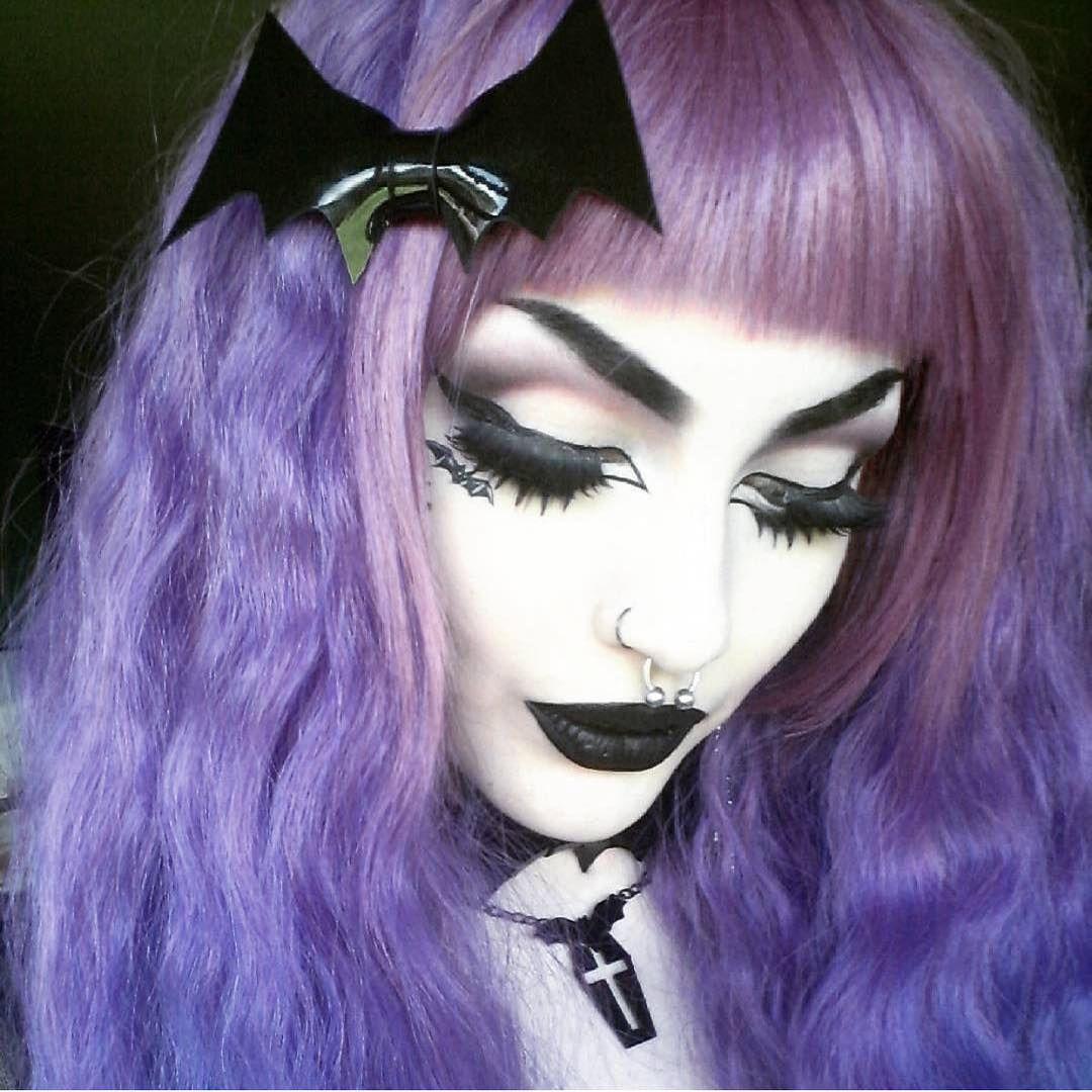 Excellent dark makeup.