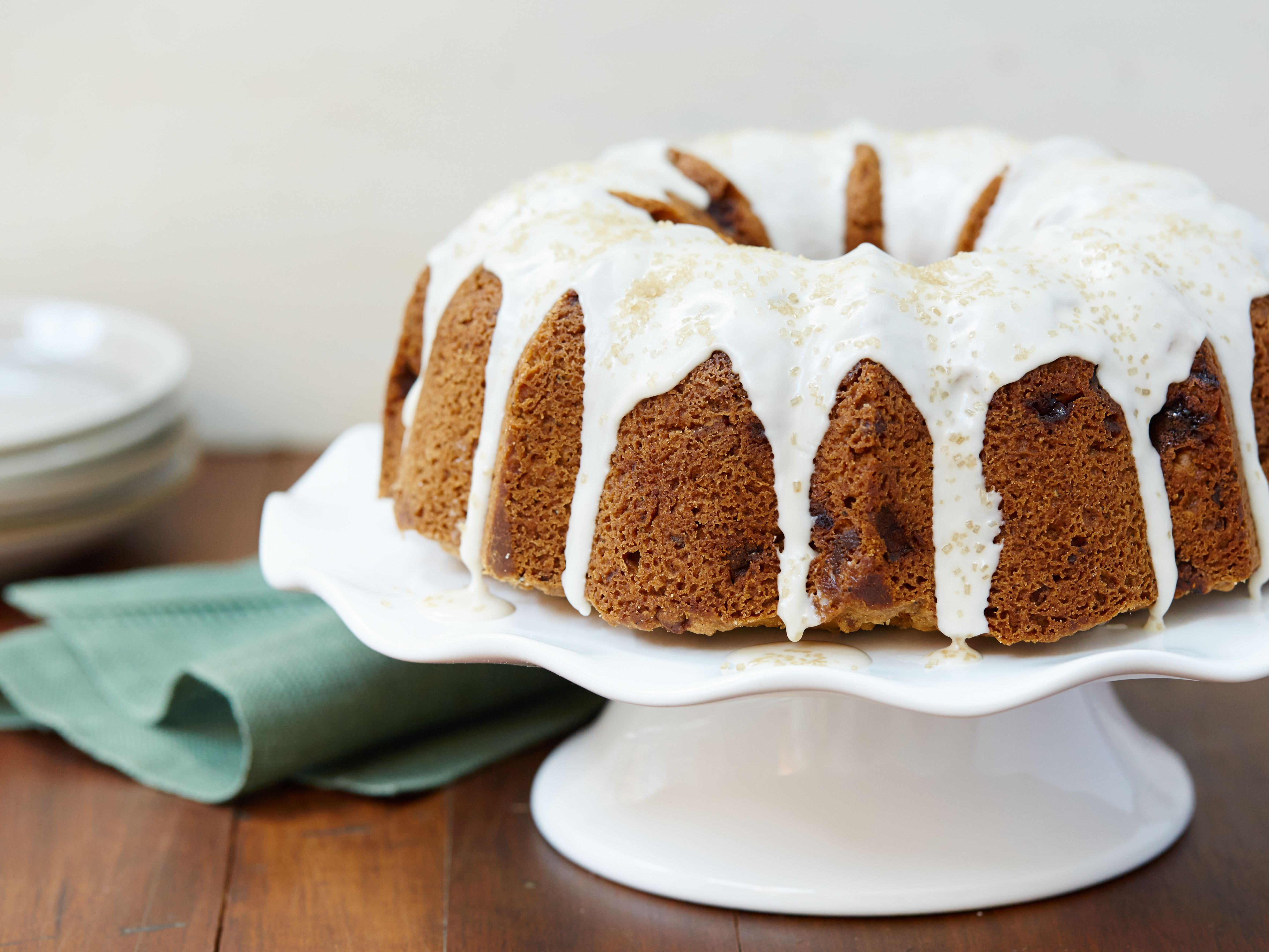 Alton Brown S Apple E Bundt Cake With Rum Glaze Recipe