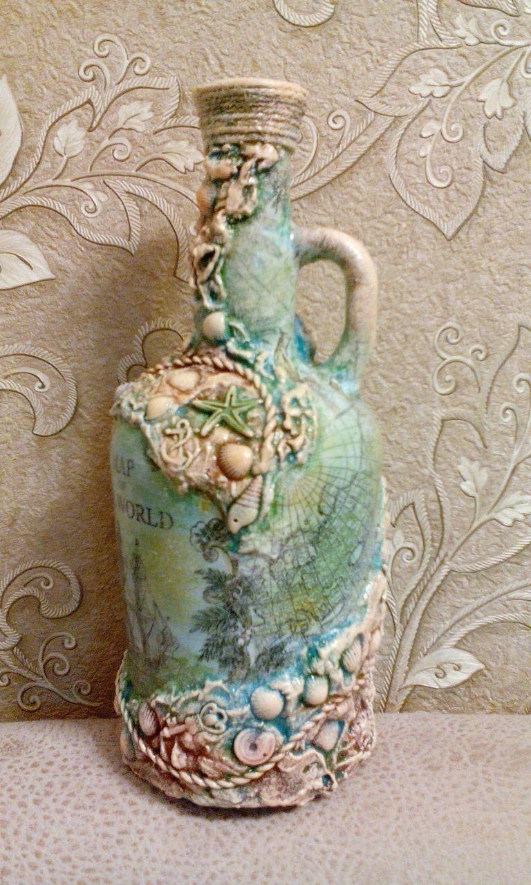 glass bottle art diy