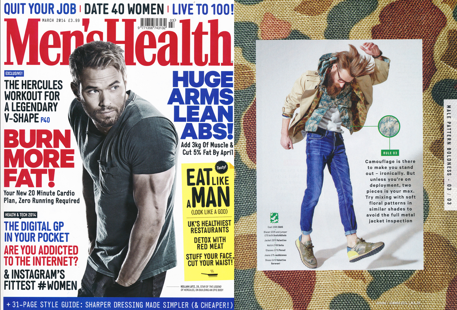 Scotch & Soda featured in Men's Health UK | March 2014