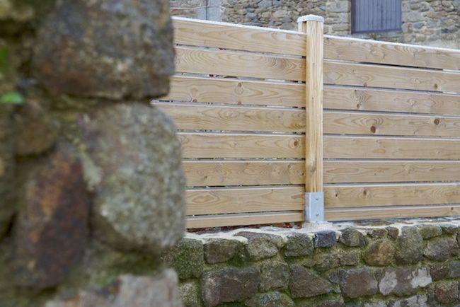 muret en pierre et clotûre aluminium | maison soisy | pinterest