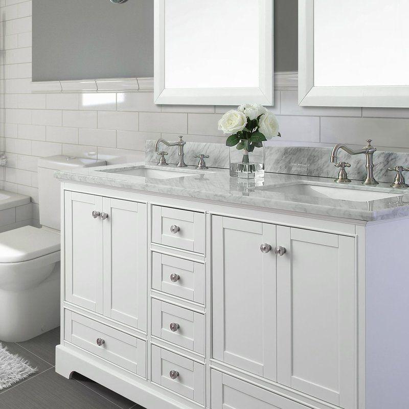 Ankara 72 Double Bathroom Vanity Set White Vanity Bathroom