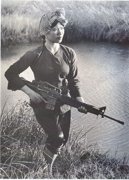 Female Viet Cong Warrior circa 1973 .