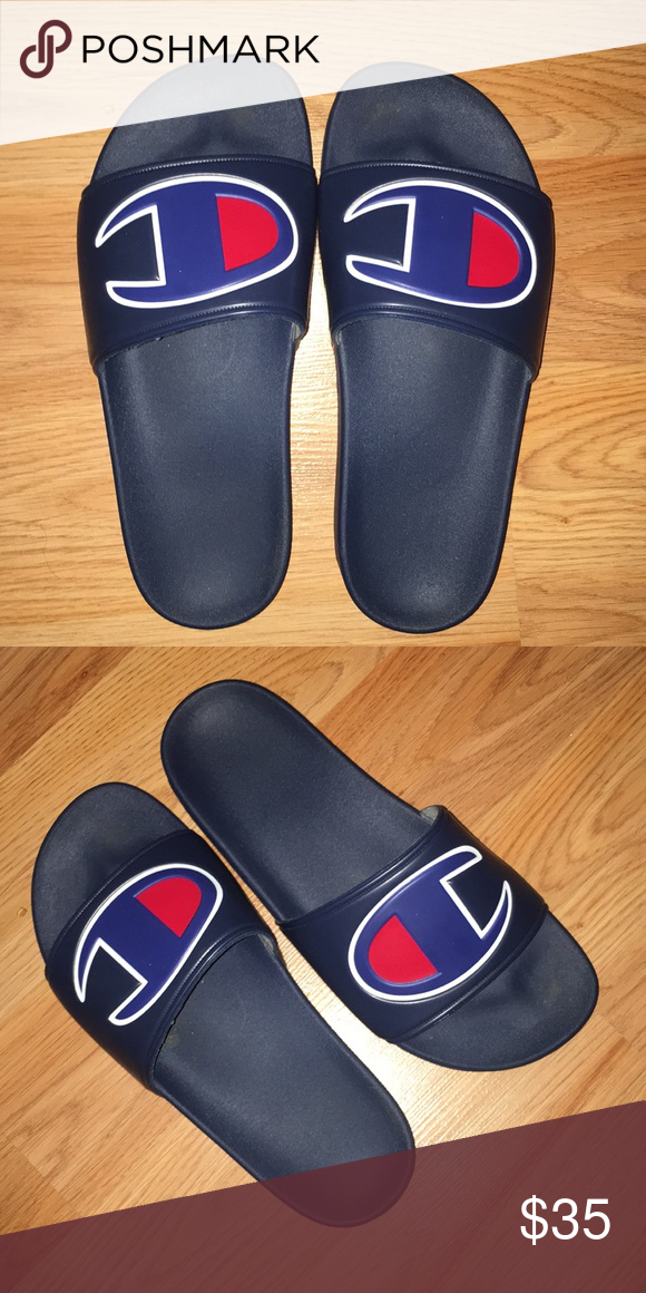 d5817363861 CHAMPION SLIDES 9 10 CONDITION Champion Shoes Slippers