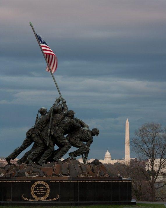 U.S. Marine Corps War Memorial (Iwo Jima Statue) Washington, DC. Nice angle.. :)