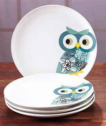 Owl Tabletop Collection Owl Kitchen Owl Kitchen Decor Owl Plate