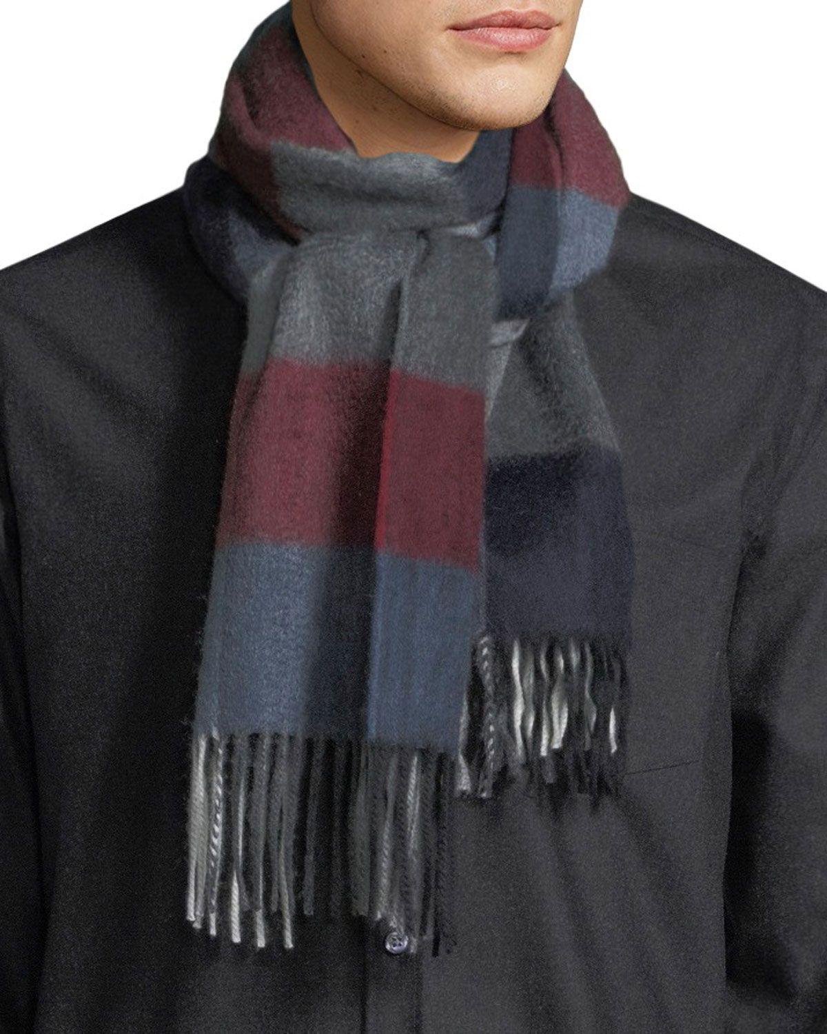 4ea9c768afe BEGG   CO MEN S HILSADAY BLOCK CHECK CASHMERE SCARF.  beggco