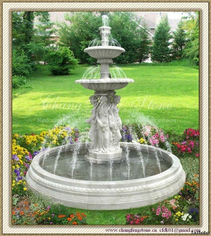 Artistic Beautiful Gardens With Fountains on Garden Inspiration