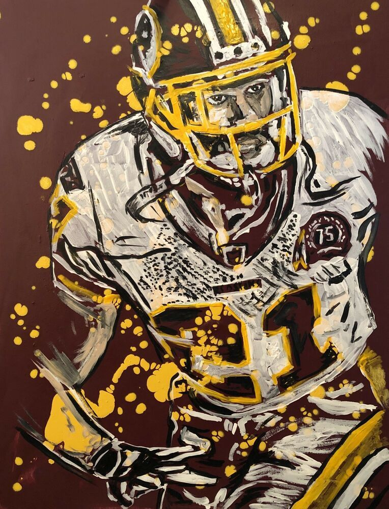 Beautiful Sean Taylor Of The Washington Redskins Painting