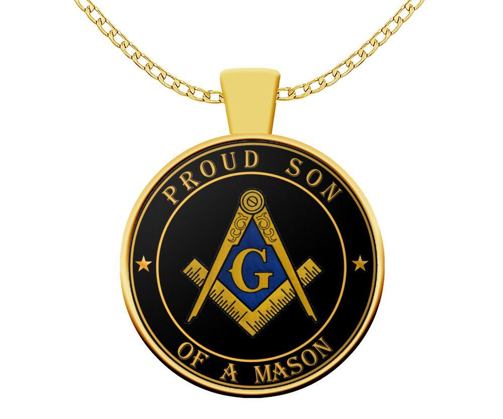 New Stainless Steel Masonic Blue Lodge Pendant Charm Freemason Mason Necklace