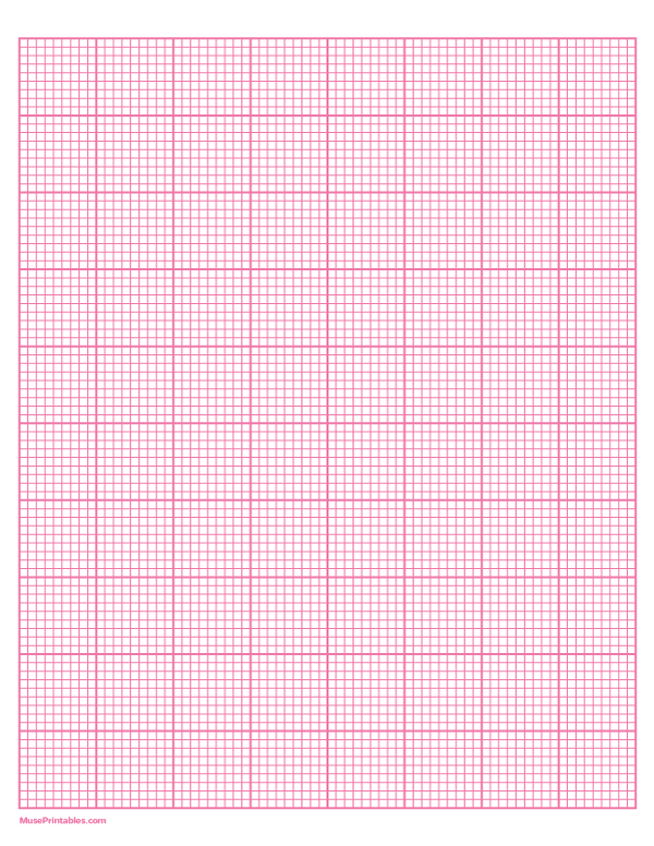 9 Squares Per Inch Pink Graph Paper Letter Sized Paper Free Printable Download At Https Museprintables Com Graph Paper Letter Paper Printable Graph Paper