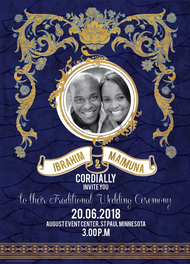 SOTEY African Wedding Invitation | Wedding invitation cards ...
