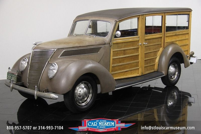 For Sale 1937 Ford Model 78b Deluxe Station Wagon Gorgeous Patina Showcasing All Original Paint Wood Body Chrome And Rare Si Station Wagon Ford Car Museum
