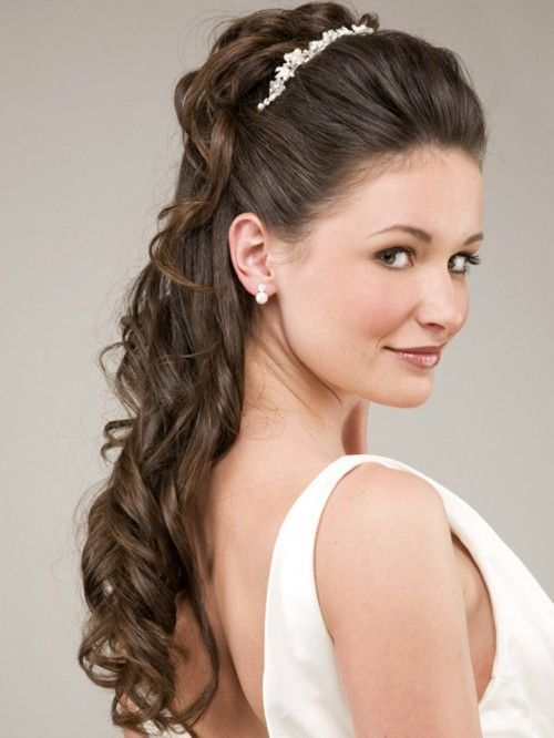 wedding hair long half up - Bing images