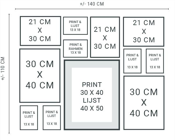 Muurcollage maken - Tips & Trucs en gratis stramien - Printcandy