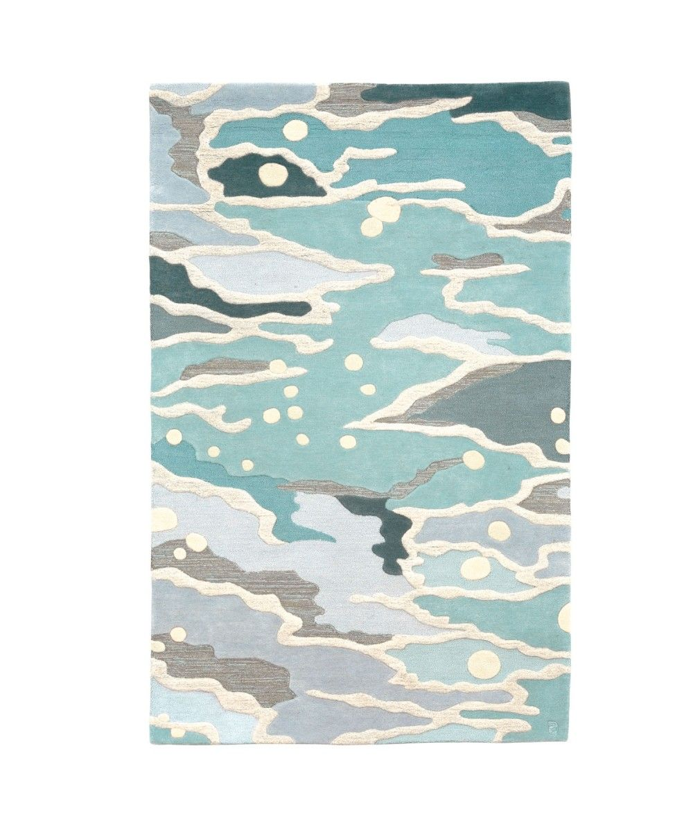 Eternity Landscapes Ocean Area Rug: Ocean Rug In Seaglass - Hand-Tufted Wool
