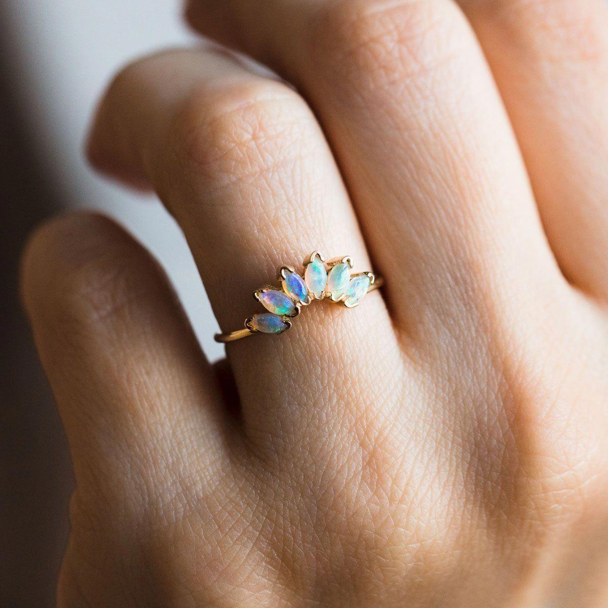 Rose Gold Engagement Matching Rings 14K Rose