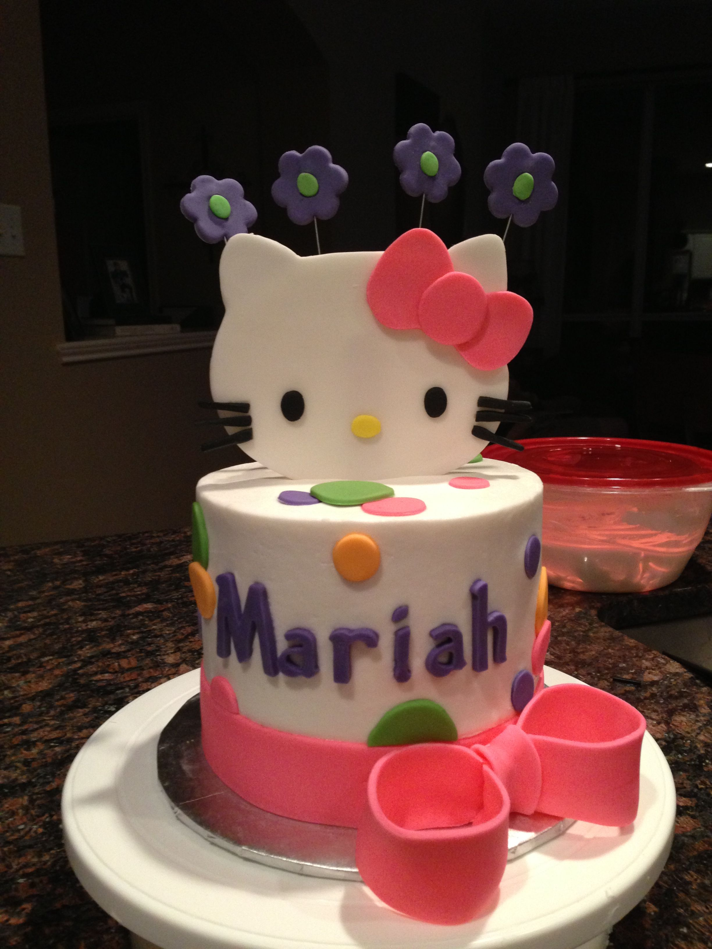 Prime Hello Kitty 4 Year Old Girl Birthday Cake Unique Birthday Cakes Personalised Birthday Cards Veneteletsinfo