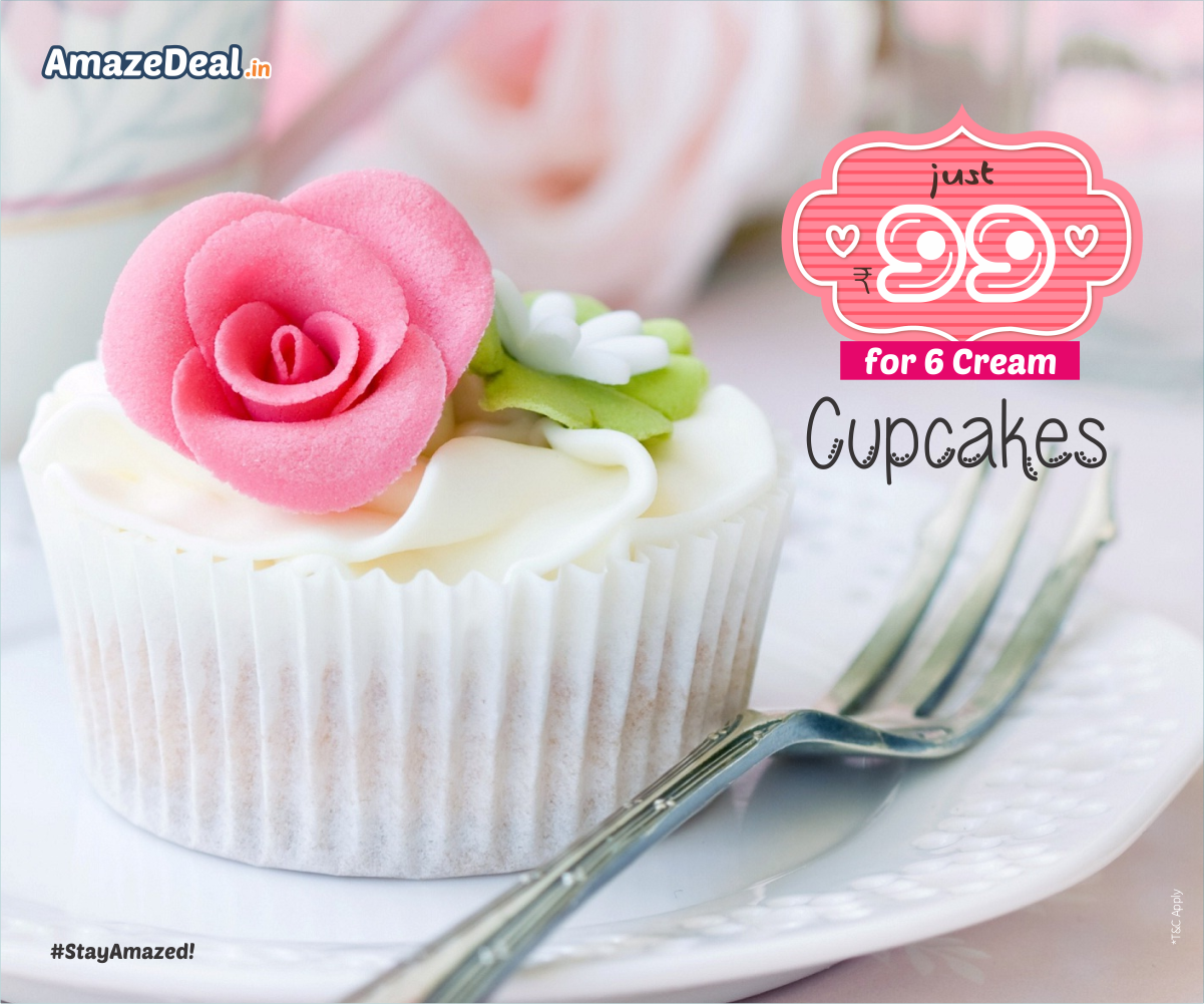 #Baked with crystal cake and served with #love,  enjoy these tiny cup #cakes at easy price only at - www.amazedeal.in  #AmazeDeal #AmazingSavings #StayAmazed #Cup #Cake