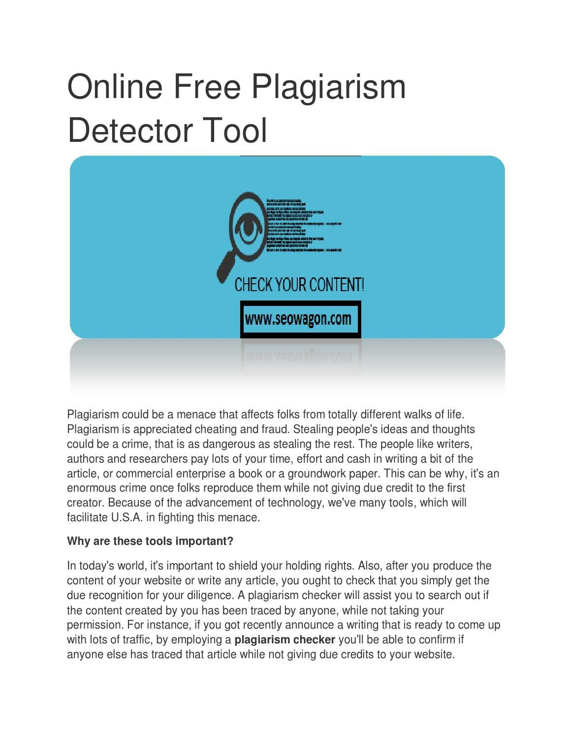 seo plagiarism checker free