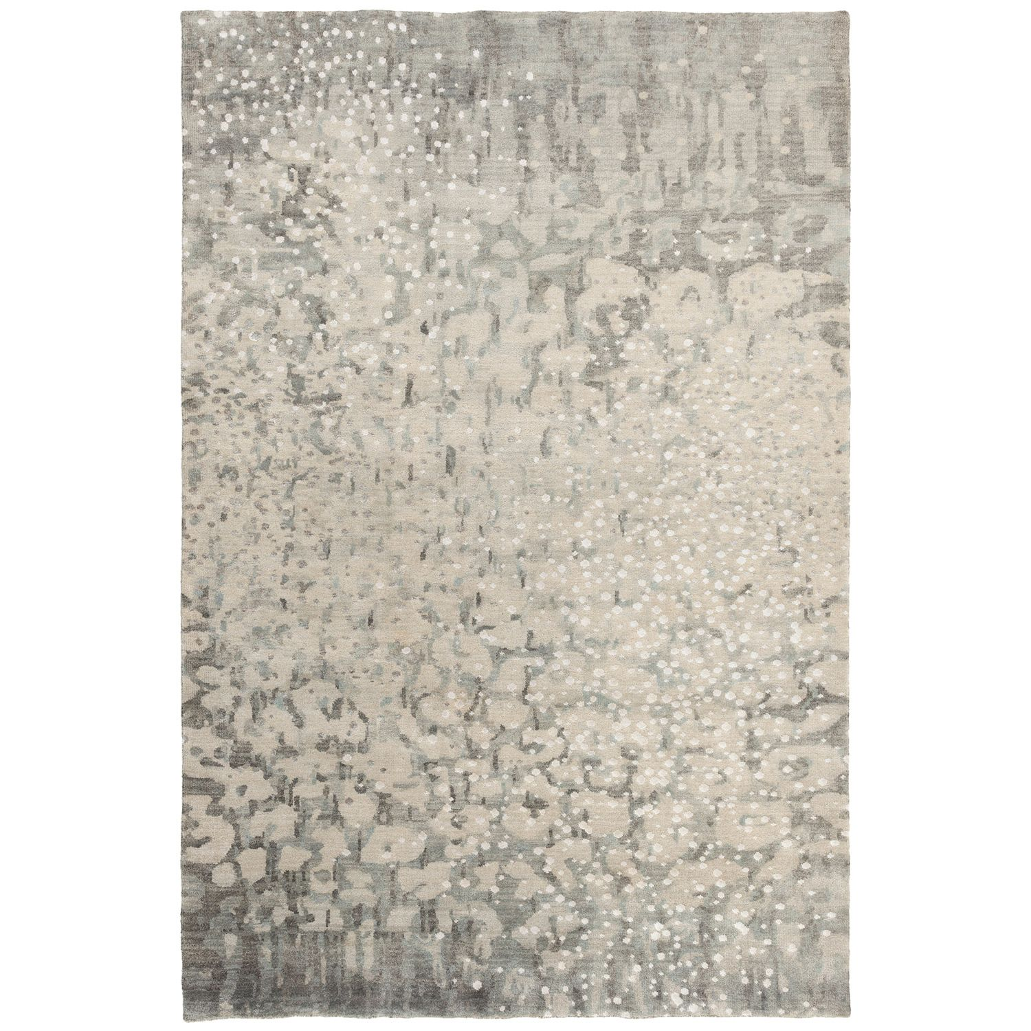 Surya Watercolor Gray Hand Knotted Wool Rug Area Rugs Contemporary Area Rugs Wool Area Rugs