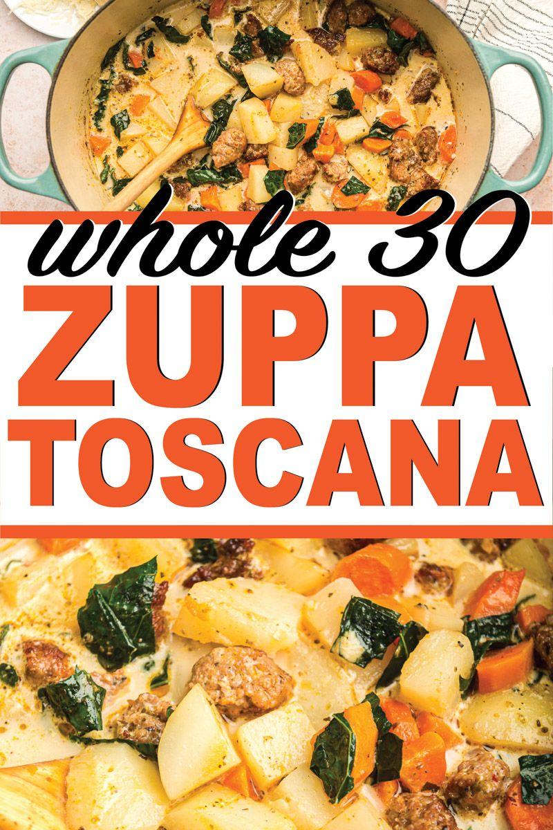 Whole 30 Zuppa Toscana #zuppatoscanasoup