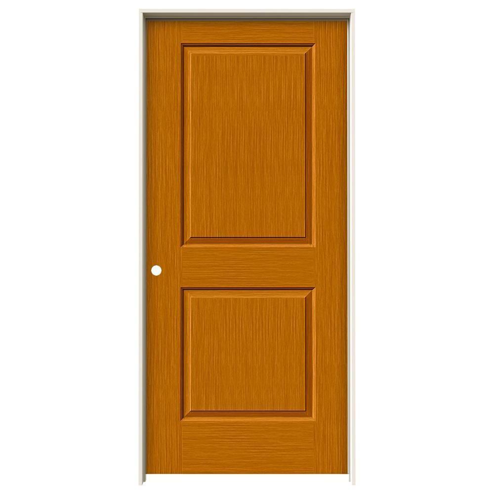 Jeld Wen 30 In X 80 In Cambridge Saffron Stain Right Hand Solid Core Molded Composite Mdf Single Prehung Interior Door Thdjw224400054 Prehung Interior Doors Entry Doors With Glass Masonite Interior Doors