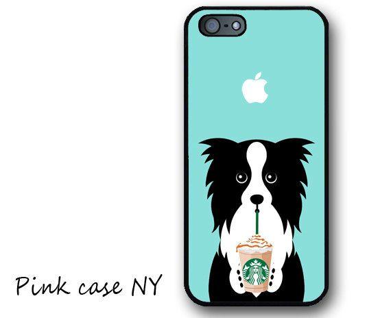IPHONE CASE I love Starbucks Border Collie 2 Iphone