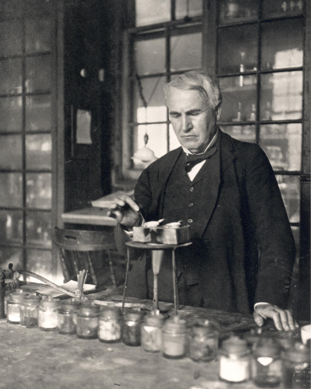 In the midst of an experiment. | Thomas Alva Edison | Pinterest for Thomas Edison Telegraph  34eri