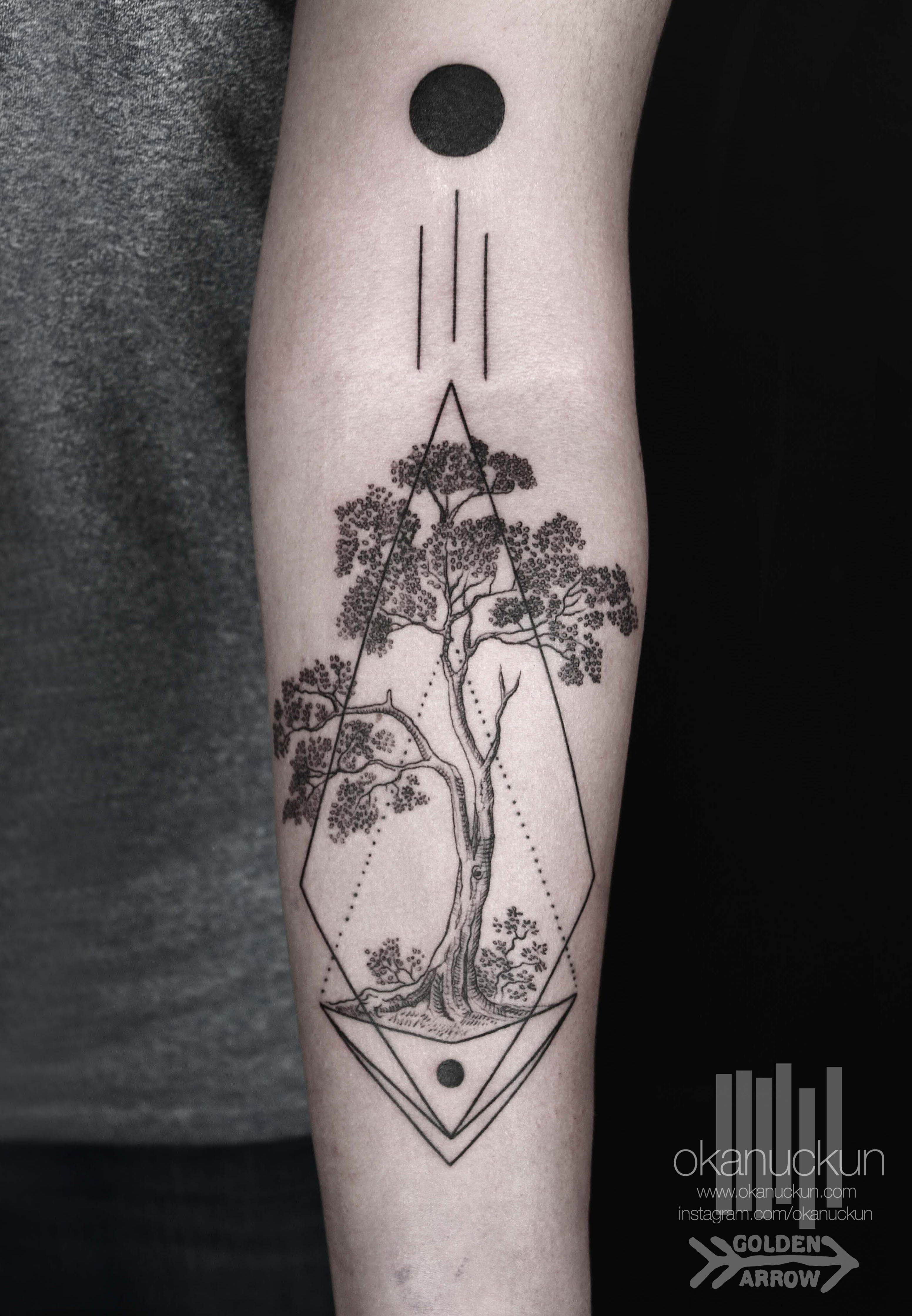 this but with a tree of life inside   tattoos❤   pinterest
