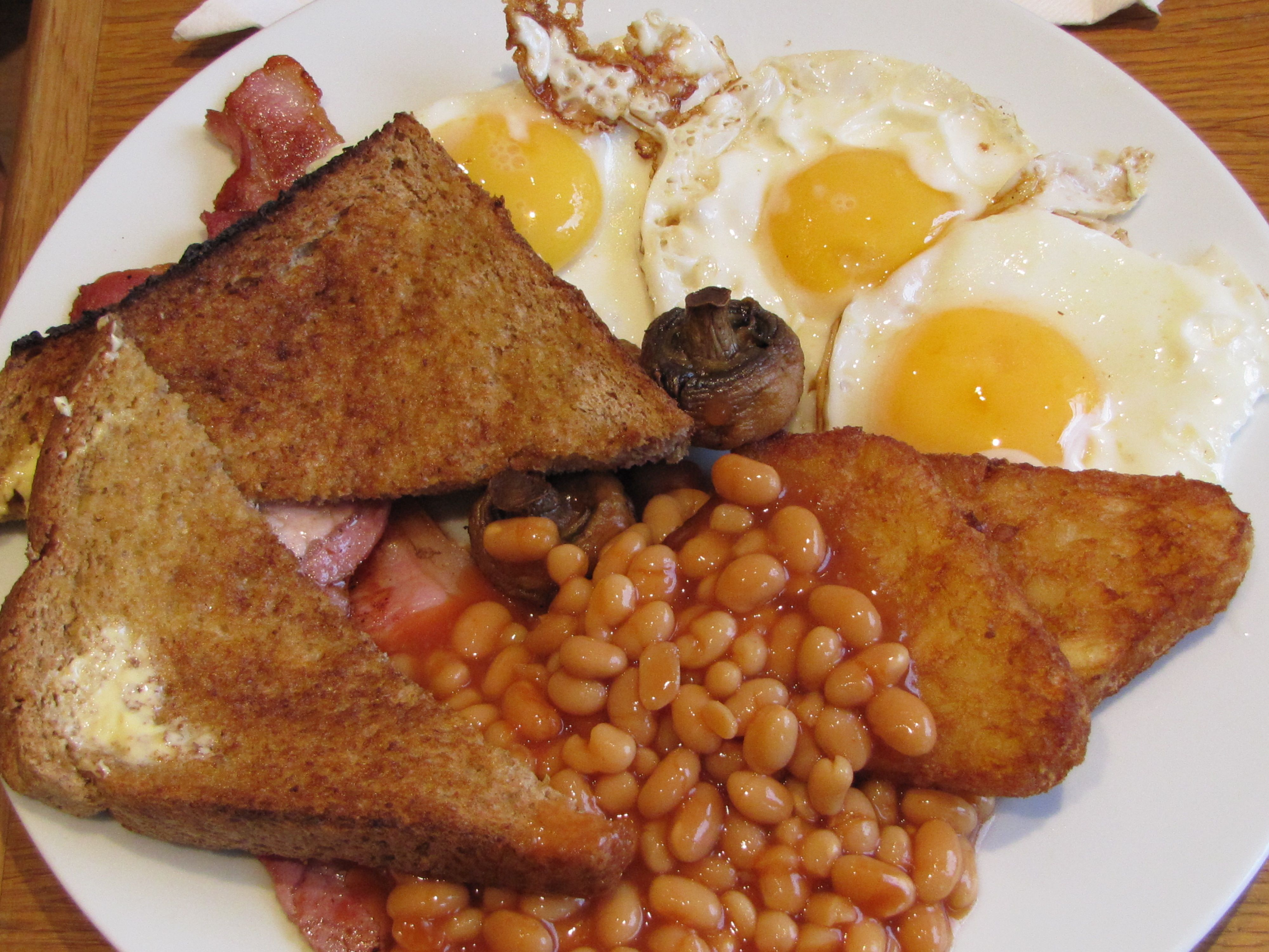 Full English Breakfast at a cafe in Durham England Full