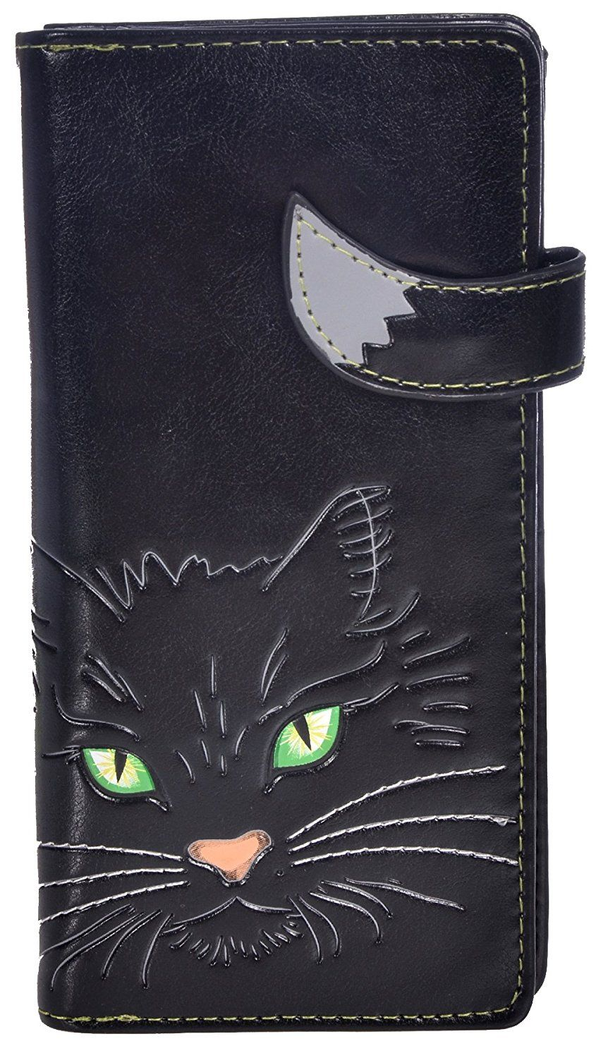 1189b1931dad Shagwear Women's Large Clutch Wallets With Zipper Pocket Cats and ...