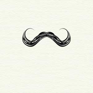 Handlebar Moustache Moustache Illustration Print Patterns