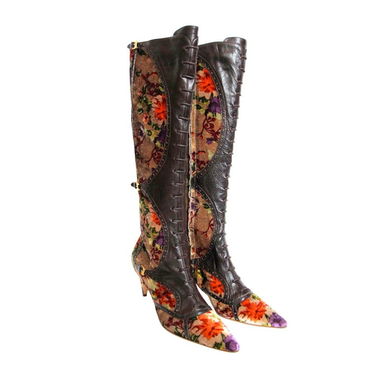 Etro Leather Knee-High Boots deals sale online sale fashion Style shopping online cheap price outlet latest 5aHCB0gE1p
