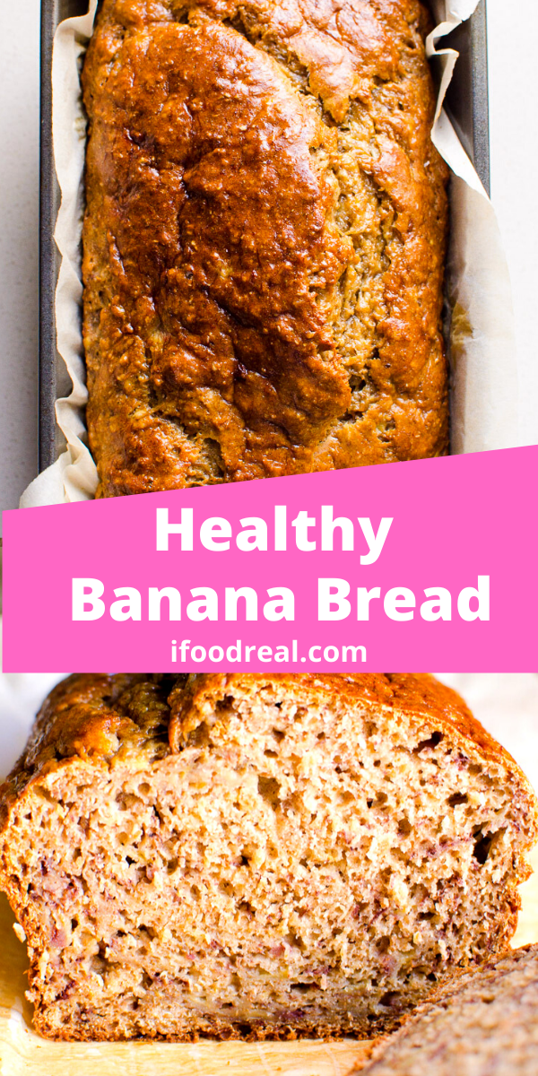 Healthy Banana Bread No Sugar In 2020 Healthy Banana Bread Easy Banana Bread Recipe Banana Bread Recipe Easy Moist
