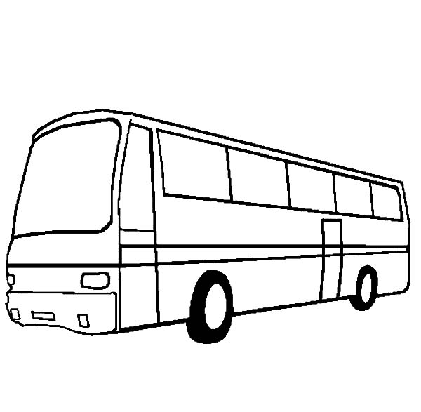 Modern City Bus Coloring Pages Netart Bus Coloring Pages Modern City