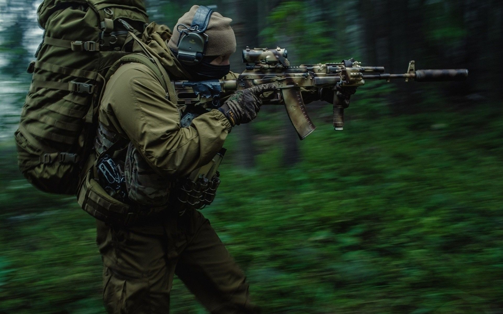 Military Soldier Russian Special Force Spetsnaz Wallpaper