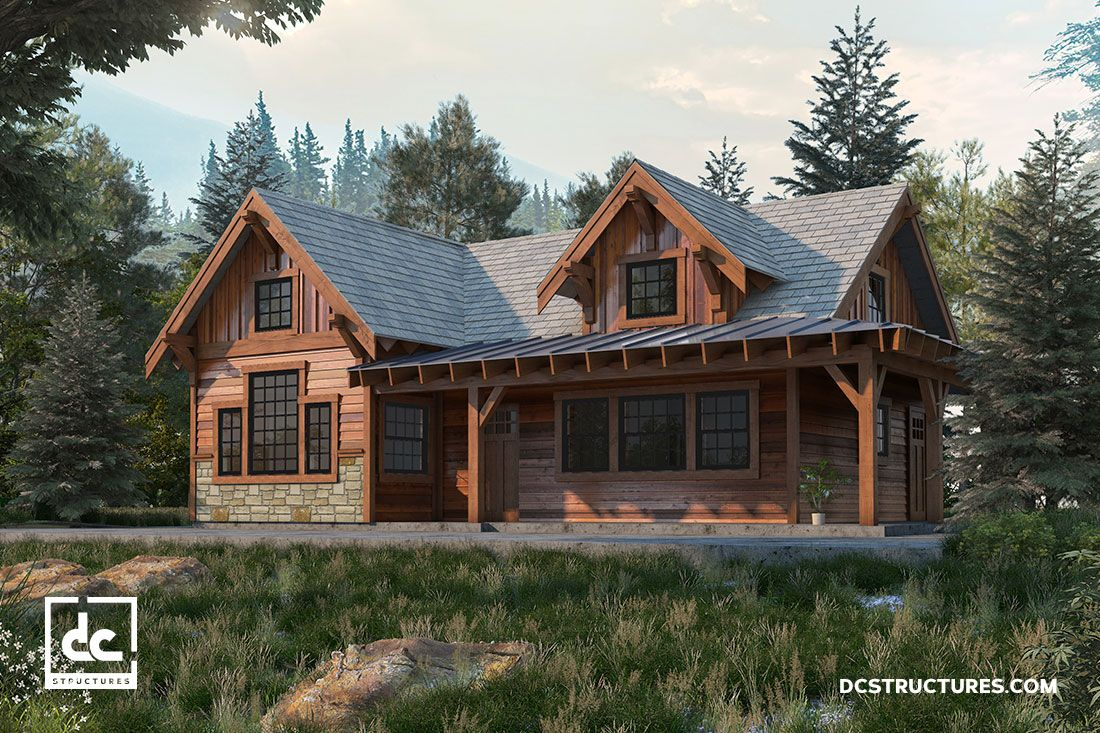 Rogue Cabin Kit 2 Bedroom Cabin Plan Dc Structures In 2020 Cabin Kits Cabin Plans Cabin