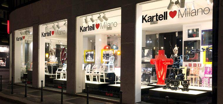 Milano Showroom Kartell #design #Kartell | Kartell Love Milano ...