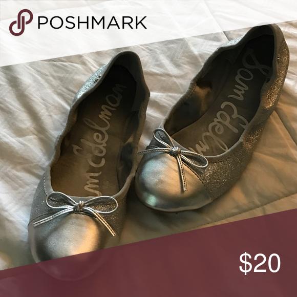 4280f7a151960f Girls Sam Edelman silver shoes size 4 MINT! Beautiful Sam Edelman flats  silver! Mint