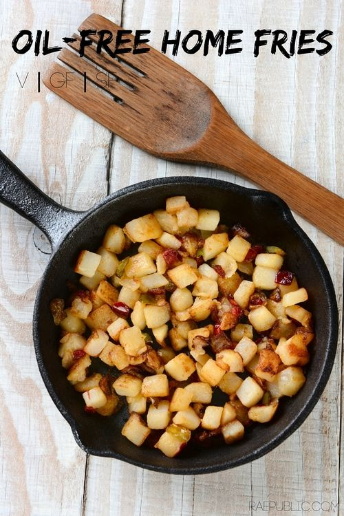 Easy #vegan #oilfree home fries that are #glutenfree and #sugarfree. They are so freaking good that they might just become an everyday #plantbased treat!