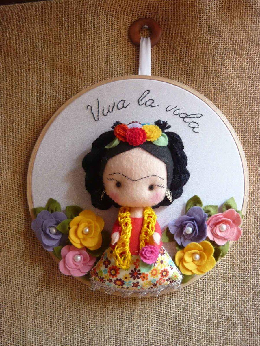 Boneca Frida Kahlo - quadro bastidor | Pinterest | Frida, Frida ...
