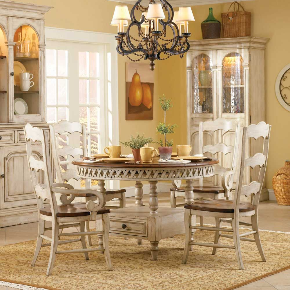 Hooker Furniture Summerglen Round Dining Table With Leaf In Antique White      Lowest Price Online On All Hooker Furniture Summerglen Round Dining Table  With ...