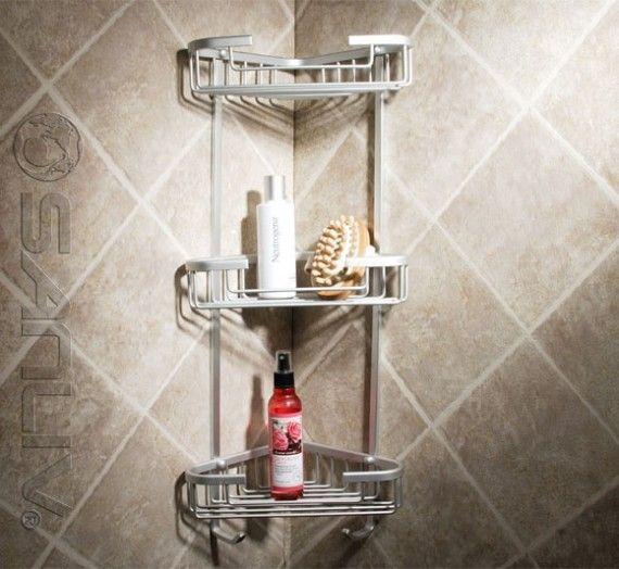 Wire Triple Shelf Corner Shower Basket Chrome Tub And Shower Faucets Bathroom Storage Stand Corner Shower