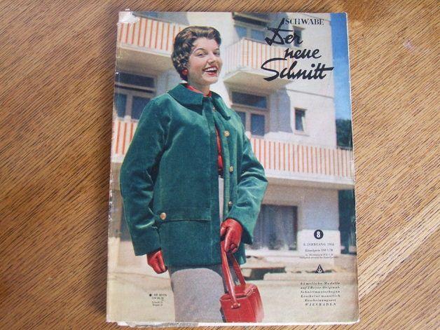 Vintage Schnittmuster - Schwabe Der neue Schnitt 8/1955 - ein ...