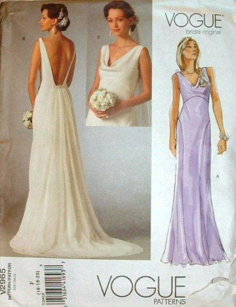 Vogue Pattern No V2965 From The The Vogue Bridal Original