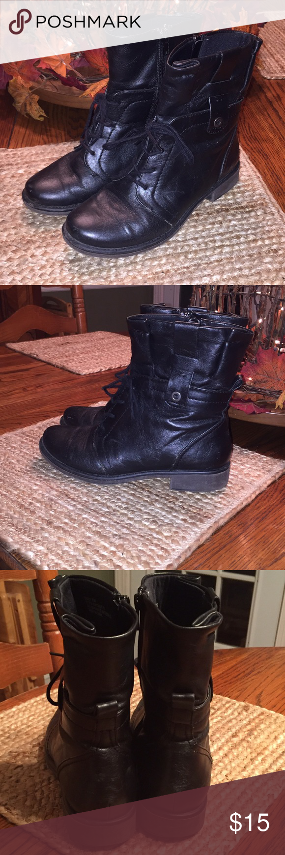 Bare Traps Combat Boots Worn, but in good condition. Size 7. Bare Traps Shoes Combat & Moto Boots